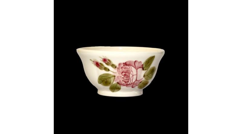 Vanilia Kerámia 44-12 Romantik rózsás tálka,kerámia,kézzel festett, V.K.44-12