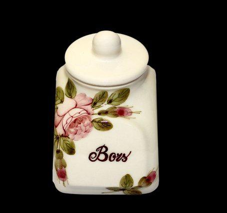 Vanilia Kerámia, 44-21 Rózsás fűszertartó kicsi, 11,5cm, 0,3l, választható felirat, V.K.44-21