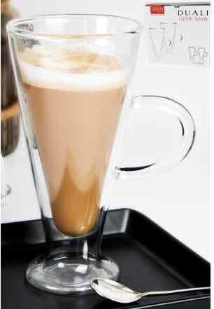 V.B.17710 Duali Caffe Latte duplafalú hőtartó üvegpohár 2db-os szett,230ml