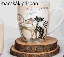 V.B.18106 Koty porcelánbögre 360ml, Cicás, (macskák párban) Veroni, 1db