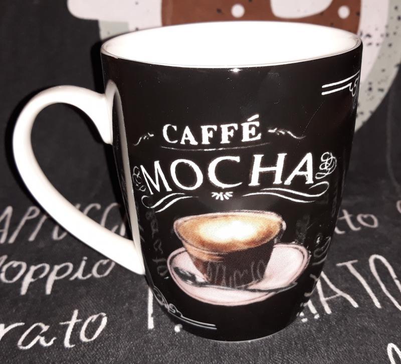 Veroni 16072 Napoli porcelán kávés bögre, 360 ml, 1db,