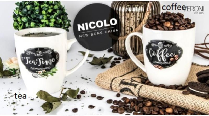 Veroni 17239 Porcelánbögre 360 ml, Nicolo ( coffee / tea ), 1 db