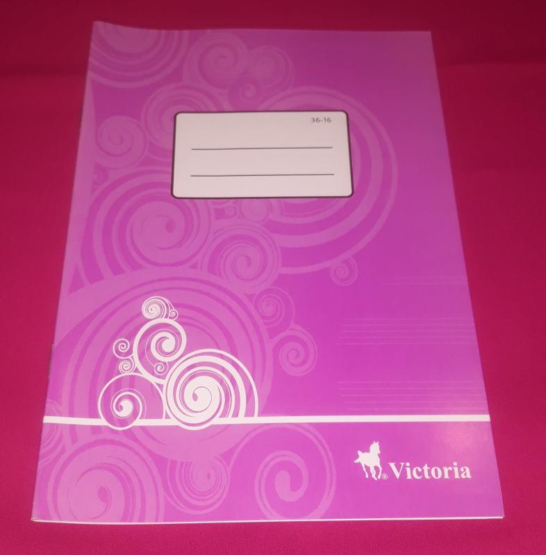 Victoria kisalakú hangjegy füzet (álló), 36-16, 32 lapos