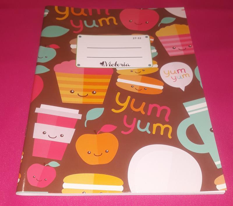 Victoria Yum Yum négyzetrácsos füzet, 27-32, 32 lapos,