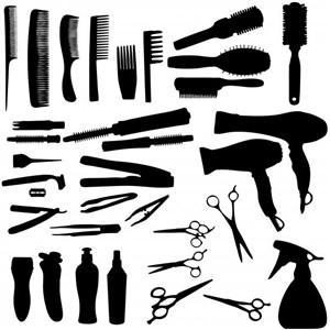 Festő, beterítőkendő, hajvágógallér