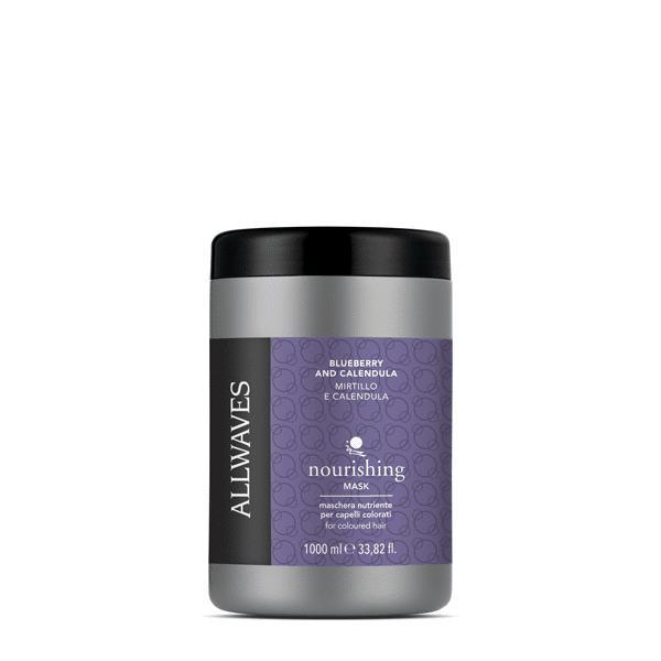 Allwaves  Blueberry & Calendula nourishing mask 1000ml / Pakolás kékáfonya / kalendula