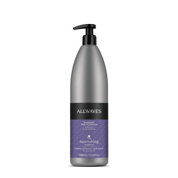 Allwaves Blueberry & Calendula nourishing shampoo 1000ml / Sampon kékáfonya / kalendula