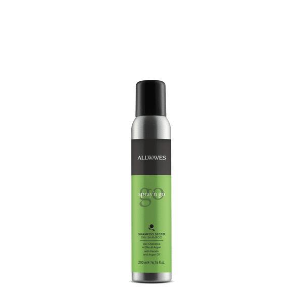 Allwaves Spray'n Go – Dry shampoo with Keratin & Argan Oil 200ml - Száraz sampon keratin/argánolaj