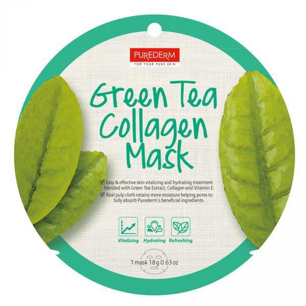 Alv. PureDerm Green Tea maszk circle