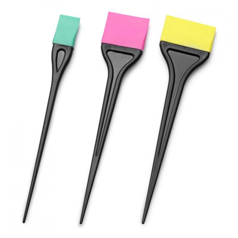Bratt Szilikon hajfestőecset színes NAGY / 9354