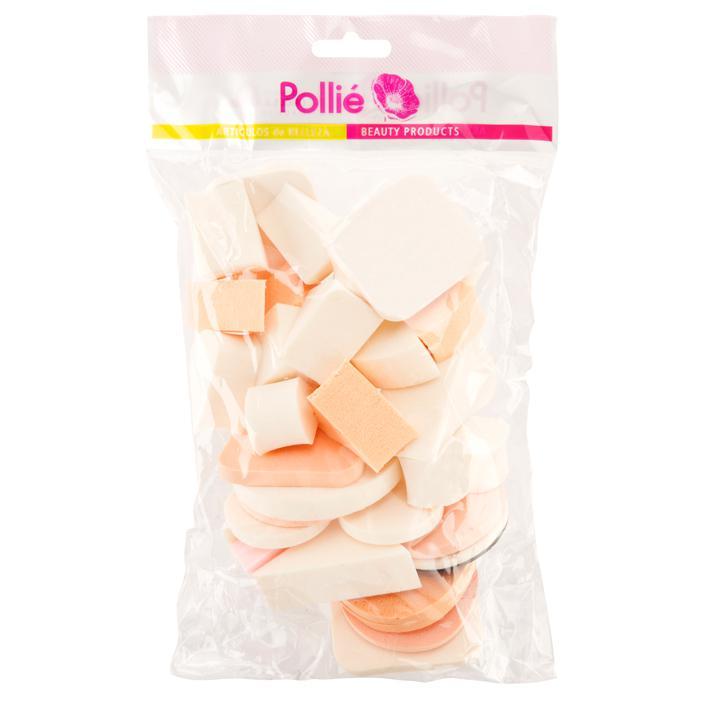 Eurostil/Pollié Kozmetikai Alapozó Sminkszivacs-szett / 33db
