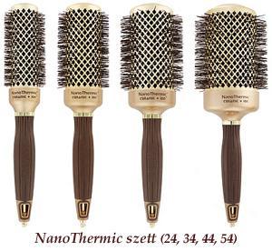 Olivia Garden Ceramic+Ion Nano Thermic arany körkefe-szett
