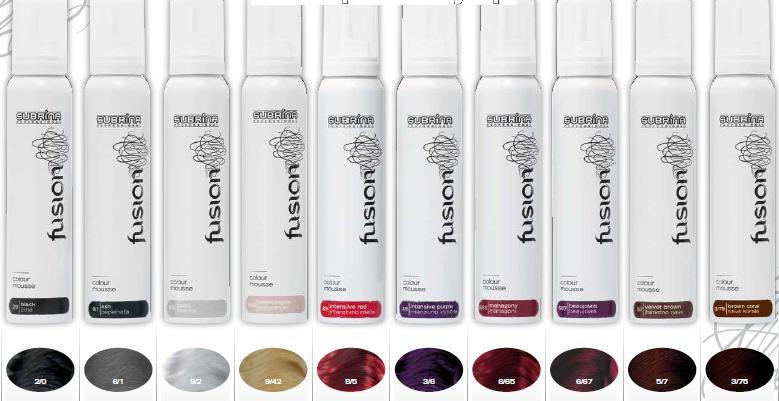 SUBRINA Professional Fusion-hajszínező és fixáló hab 125ml
