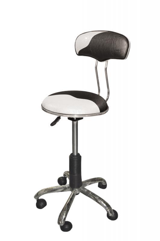 Támlás forgó ülőke SX-850 / Fekete-fehér