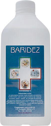 Uniclean Baridez felület- és eszköz fertőtlenítő 1000ml