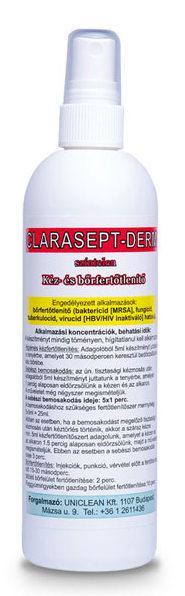 Uniclean Clarasept-derm 250ml bőrfertőtlenítő