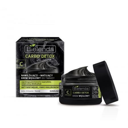CARBO DETOX - Carbon hidratáló-mattító arckrém nappali/éjszakai - BIELENDA