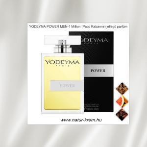 POWER MEN YODEYMA 100ml  - 1 Million - Paco Rabanne jellegű parfüm