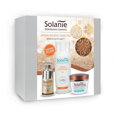 Solanie Argán növényi őssejtes bőrfiatalító szett + Ajándék törölközővel