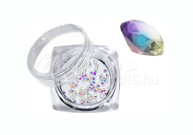 Pixie kristály strasszkő 300db crystal AB ezüst szivárványos