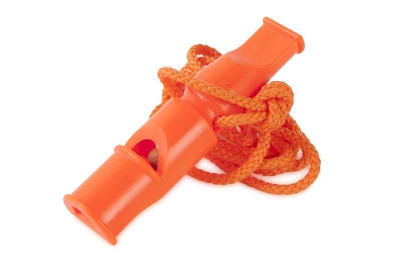 ACME Két hangú síp 640 9 cm Nyakpánttal Narancs