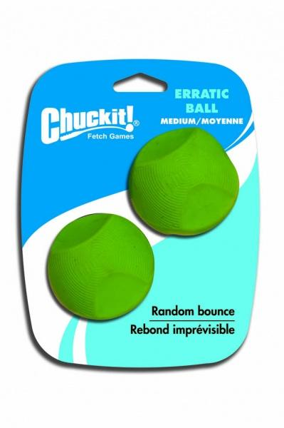 Chuckit! Erratic tévelygő labda medium 6,5 cm 2 db