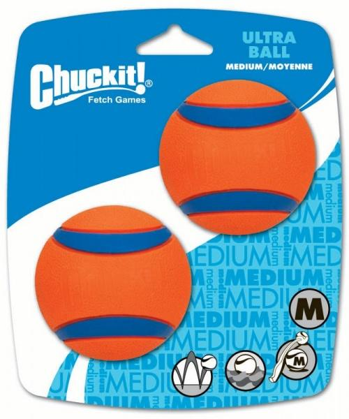 Chuckit! Ultra gumi labda medium 6,5 cm 2 db