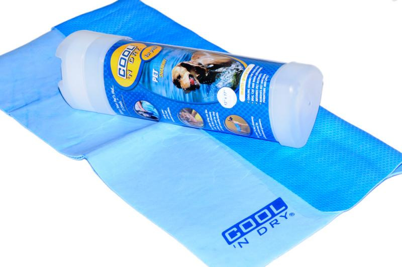 COOL 'N Dry Kutya Törölköző Kicsi - Ég kék