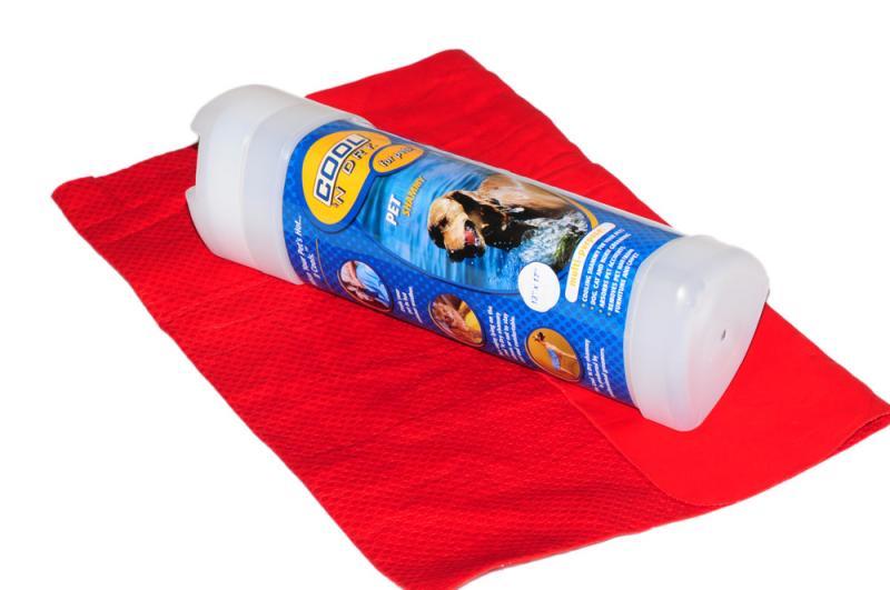 COOL 'N Dry Kutya Törölköző Kicsi - Sötét piros