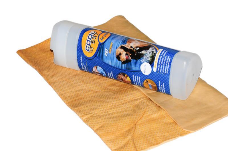 COOL 'N Dry Kutya Törölköző Nagy - Arany