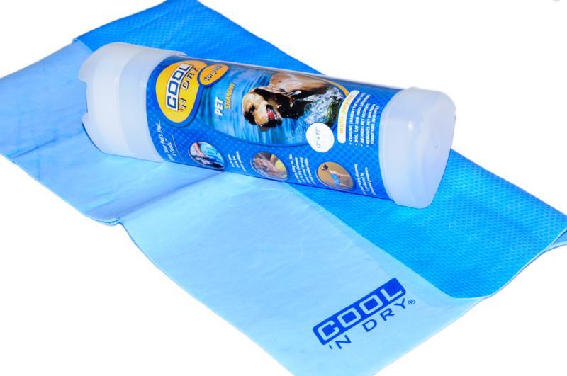 COOL 'N Dry Kutya Törölköző Nagy - Ég kék