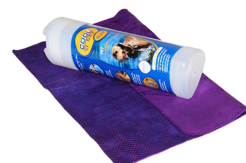 COOL 'N Dry Kutya Törölköző Nagy - Lila