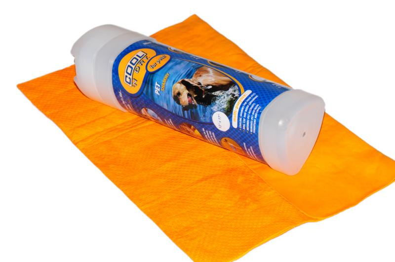 COOL 'N Dry Kutya Törölköző Nagy - Nap sárga