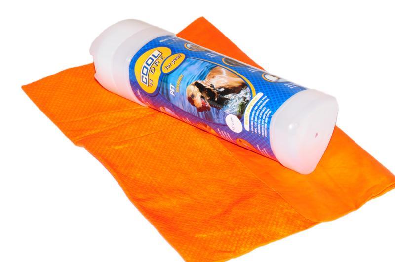 COOL 'N Dry Kutya Törölköző Nagy - Narancs