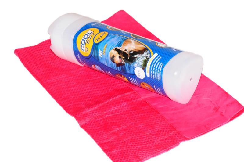 COOL 'N Dry Kutya Törölköző Nagy - Rózsaszín