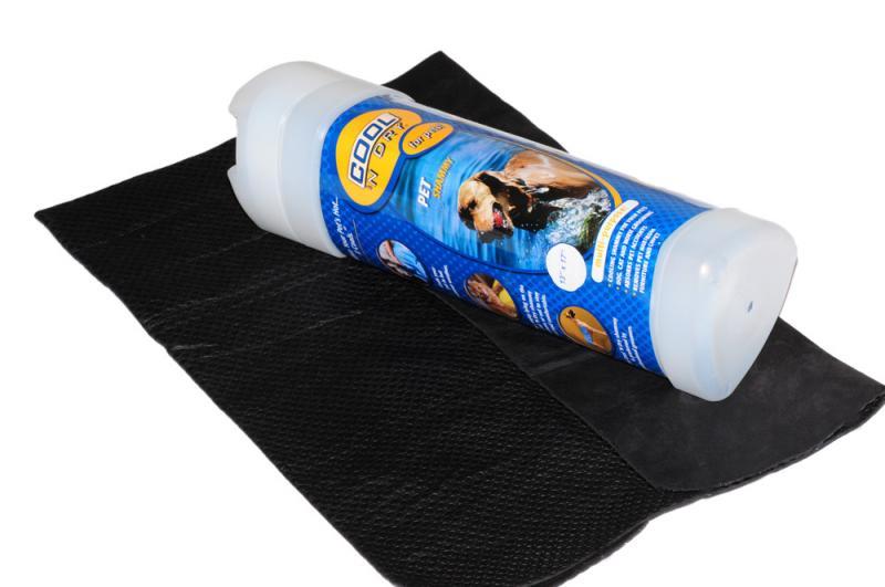 COOL 'N Dry Kutya Törölköző Nagy - Szén fekete