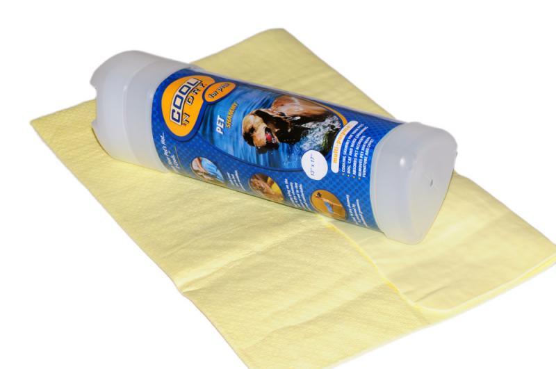 COOL 'N Dry Kutya Törölköző Nagy - Világos sárga