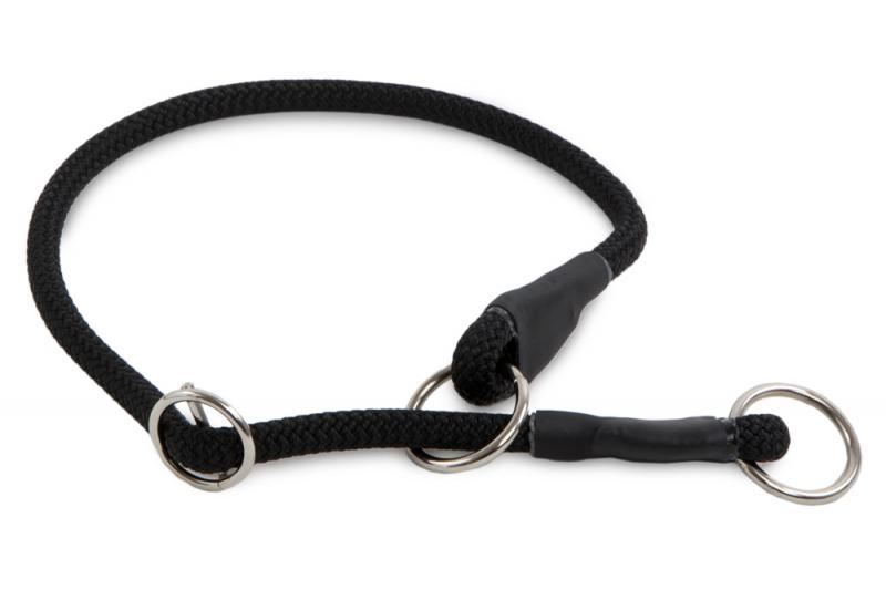 Félfojtó nyakörv 8 mm Fekete 65 cm