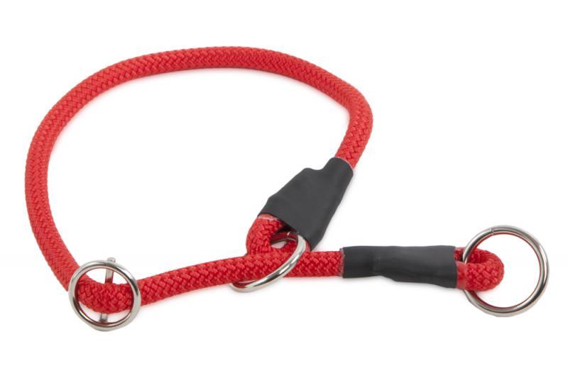 Félfojtó nyakörv 8 mm Piros 65 cm