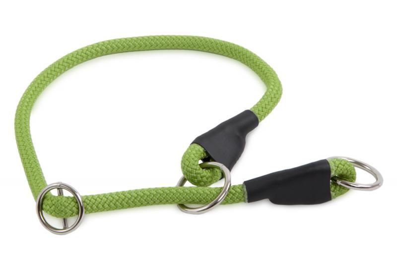 Félfojtó nyakörv 8 mm Világos zöld 35 cm