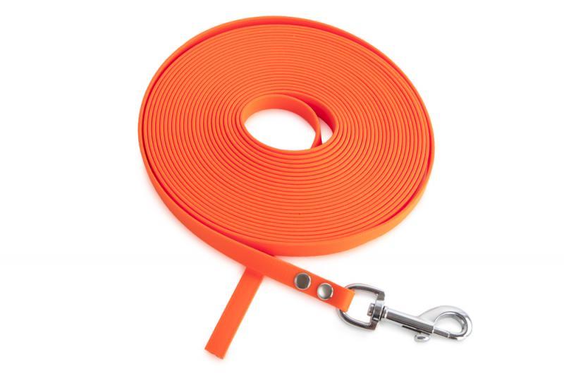 FIREDOG® BioThane Nyomkövető Póráz 13 mm 15 m Narancssárga