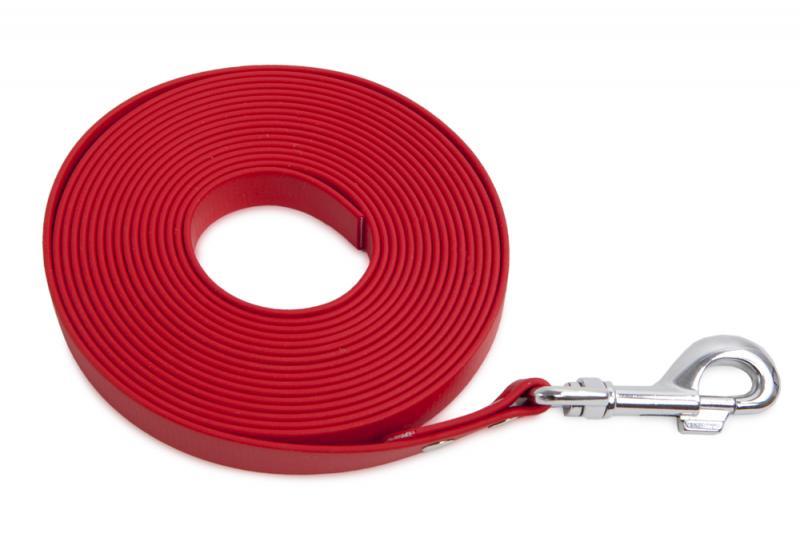 FIREDOG BioThane Nyomkövető Póráz 13 mm 15 m Piros
