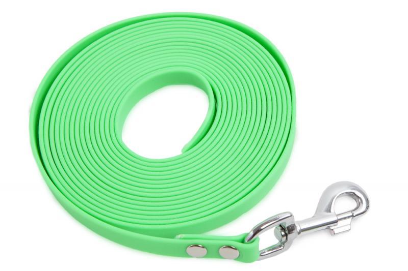 FIREDOG BioThane Nyomkövető Póráz 13 mm 7,5 m Világos zöld