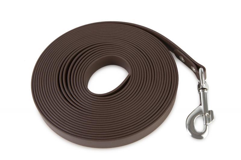 FIREDOG® BioThane Nyomkövető Póráz 19 mm 10 m Barna