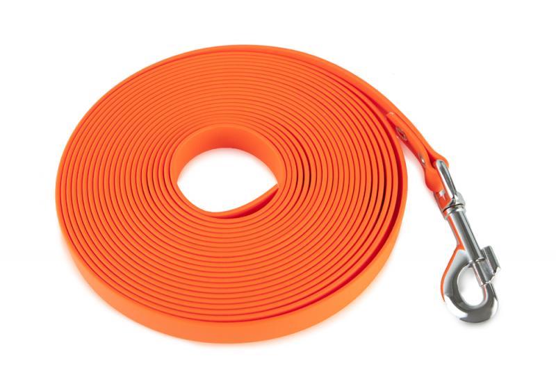 FIREDOG BioThane Nyomkövető Póráz 19 mm 15 m Narancssárga