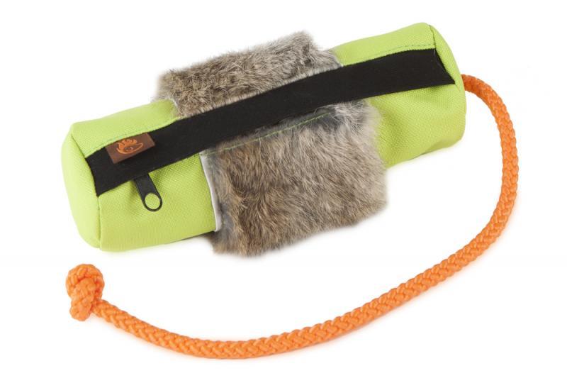 FIREDOG® Dummy Snack Nyúlszőrrel Kicsi - Neon zöld