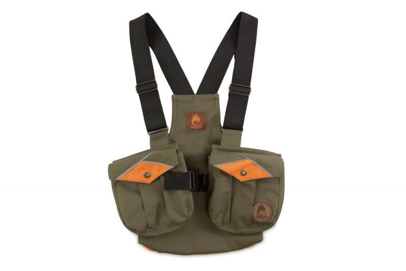 FIREDOG® Dummy vest Trainer gyerekeknek 122-128 Khaki/Narancs