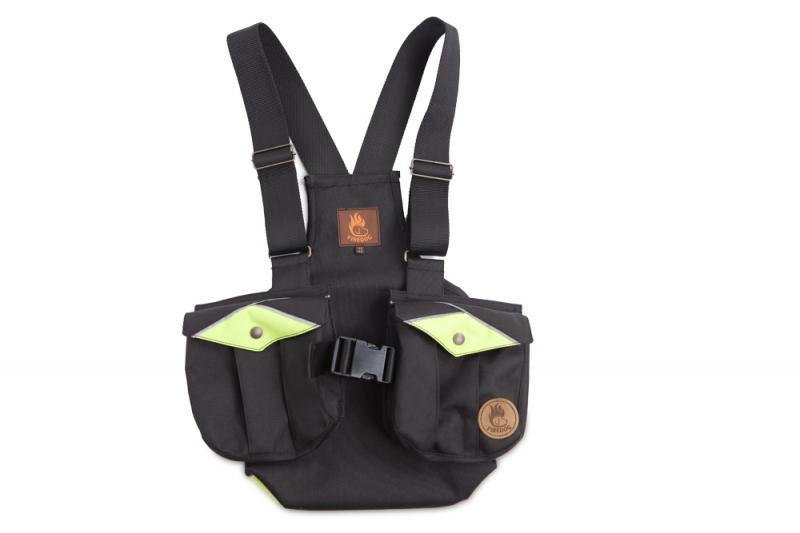 FIREDOG Dummy vest Trainer gyerekeknek 140-146 Fekete/Neon zöld