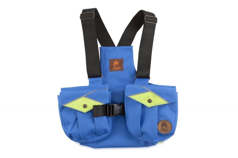 FIREDOG® Dummy vest Trainer gyerekeknek 140-146 Kék/Neon zöld