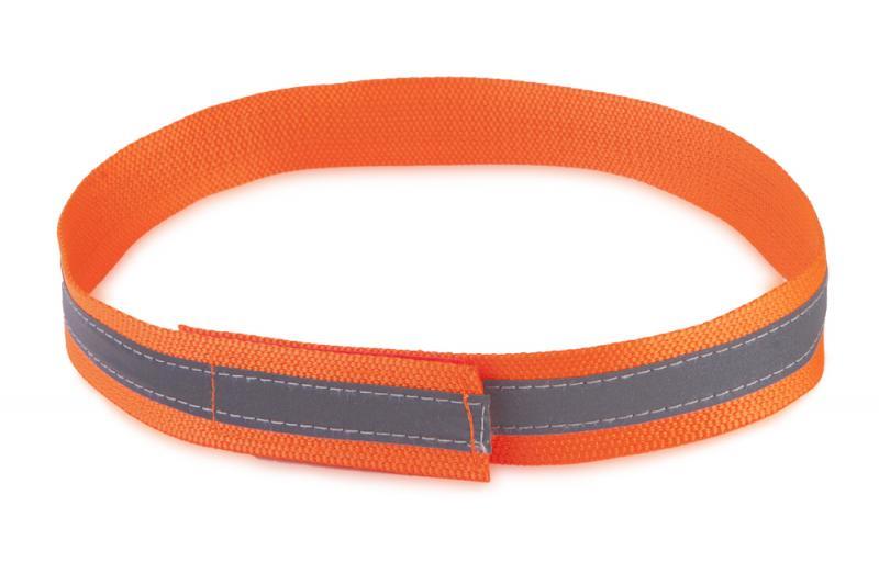 FIREDOG® Fényvisszaverő nyakörv tépőzárral Narancssárga 60 cm